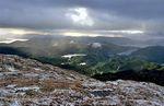 No er det klarna opp. Utsikt fra Vedåfjellet mot nord og Lonevåg.